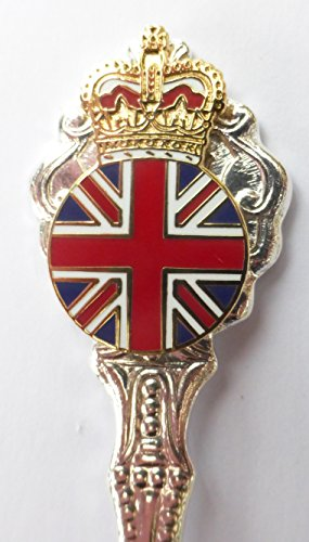 Queen Elizabeth II Royal Crest With Crown Collector's Silver Plated Spoon - T1089
