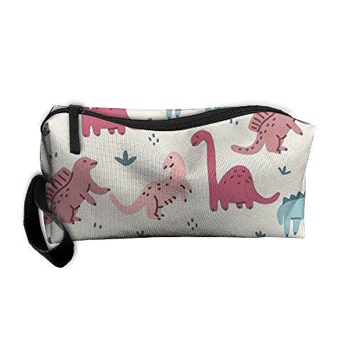 Bolsas de Cosméticos cepillo para polvo para polvo bolsa de portátil bolsa de maquillaje lindo dinosaurio cierre...