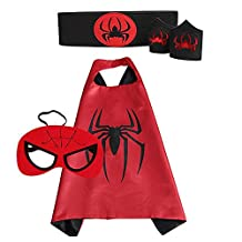 Superhero Cape Bundle - 4 Items - 1 Cape - 1 Mask - 1 Waistband - 2 Wristbands
