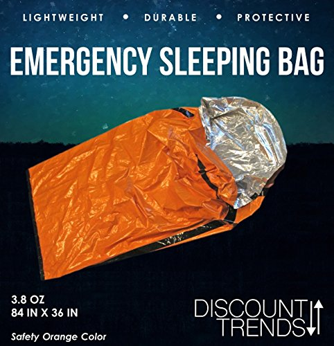 Discount Trends Heavy Duty Emergency Solar Thermal Sleeping Bag Bivvy Sack Survival Camp Blanket - Emergency Solar Blanket