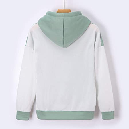Clearance!Youngh Womens Sweatshirt Patchwork Loose Long Sleeve Hooded Casual Pullover Blouse Shirt Tops: Amazon.com: Grocery & Gourmet Food