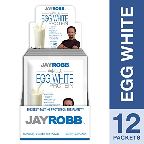 Jay Robb - Egg White Protein Powder, Outrageously Delicious, Vanilla, 12 ()