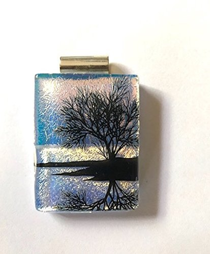 Reflections- Fused Dichroic Glass Necklace (Dichroic Jewelry Fused Glass)