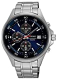 Seiko Men's Quartz Stainless Steel Dress Watch, Color:Silver-Toned (Model: SKS475)