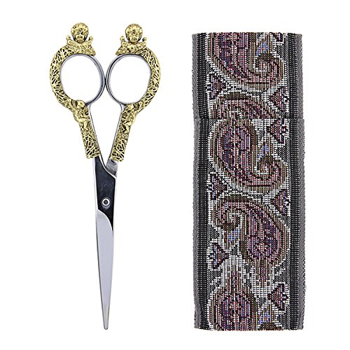 Paisley Angel (Antiqued Gold-Tone Scissors with Paisley Pouch)