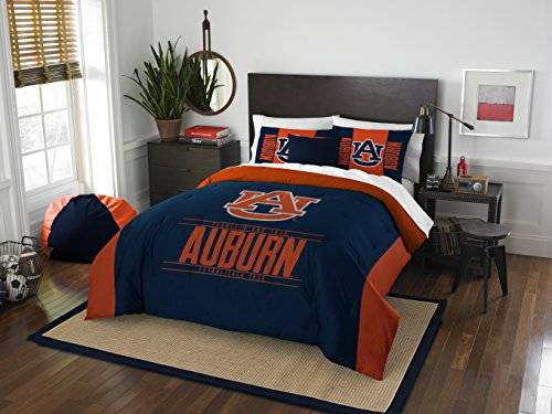 The Northwest Company Officially Licensed NCAA Auburn Tigers Modern Take Full/Queen Comforter and 2 Sham - Set Auburn Bed