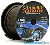 2058 Strands Black - Sundown Audio 100 Ft 4 AWG Power Cable