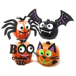 Funiverse Mega Bulk Pack 126 Piece Foam Halloween Pumpkin Decorating Craft Kit Stickers - Makes 16 Pumpkins (Pumpkins Not Included)