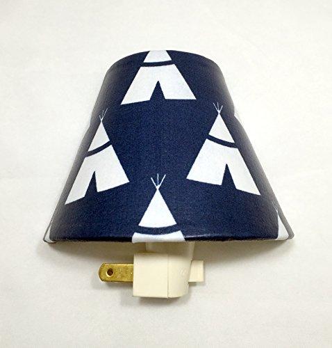 TeePees Plug In Night Light / Nursery Decor / Baby Shower Gift / Home Decor / Kid's Room / Navy and White / Forts / Lighting / Hallway Light / Boy's Room