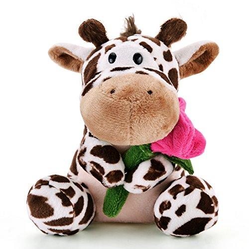 Lazada Plush Giraffe Hold Romantic Rose Toys Love Valentine's Day Gifts 5