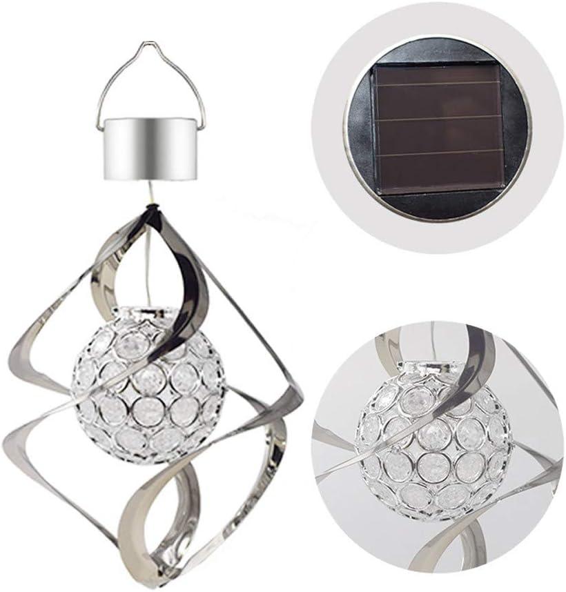 Carillon /éolien Clearance Cadeaux pour St Patrick Lumi/ère LED Les carillons /éoliens /à /énergie solaire suspendus changent la couleur de la lampe ext/érieure du jardin LED