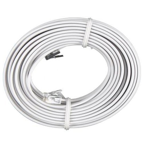 - Bistras 100 Feet White Telephone Extension Cord Cable Line Wire