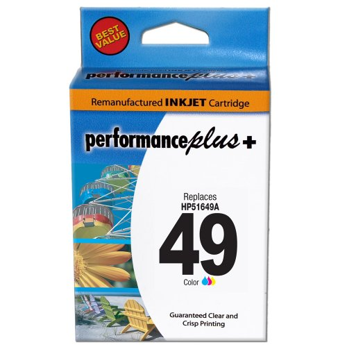 Performance Plus Remanufactured HP49 Tri-Color Inkjet Cartridge (51649A #49)