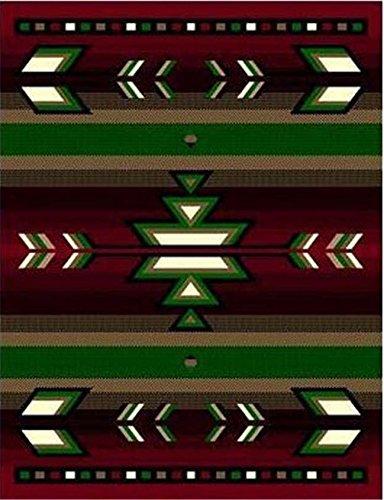 Burgundy 2 X 8'' Runner Area Rug Southwestern Design Apache Native American Theme