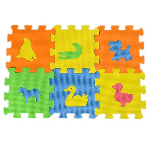 Cutorial Puzzle Tapis en Mousse 36 pi/èces Rembourrage en Mousse EVA Tapis de Puzzle pour Enfants Motif Animaux