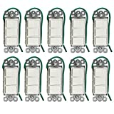 Enerlites 62755-W Decorator Combination Devices 15AMP Push-In Only 120-277V AC Triple Rocker Switches, White (10 Pack)