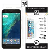 TheGiftKart™ Ultra Clear Premium HD Tempered Glass Screen Protector with Rounded Edges (Precise Cut-Outs for Front Camera & Sensor) for Google Pixel XL