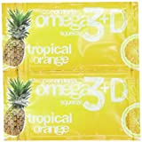 Coromega Omega3 Squeeze with Vitamin D3, Tropical Orange, 90 Count, Health Care Stuffs
