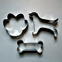 LAWMAN Dog Bone Paw Fondant Pastry Baking Biscuit Cookie Cutter Set