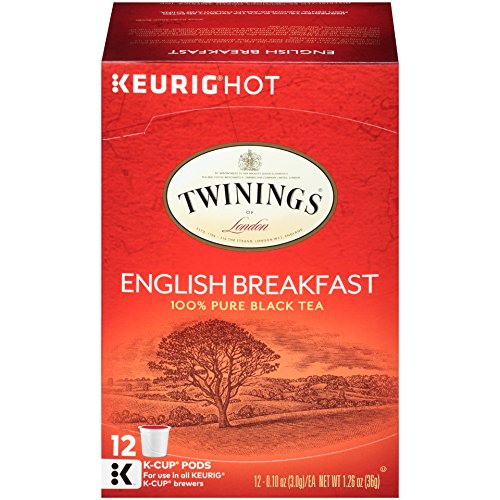Twinings of London English Breakfast Tea K-Cups for Keurig, 12 Count (Pack of 6)