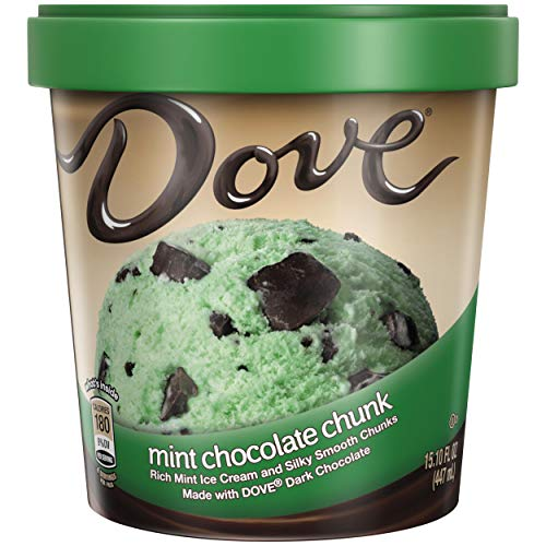 DOVE Mint Chocolate Chip Ice Cream, Pint (8 Count)