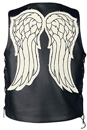 The Walking Dead Governor Daryl Dixon Angel Wings Leather Vest Jacket (XL, Faux Leather)]()