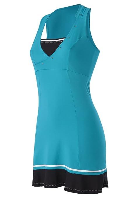 Naffta Tenis Padel - Vestido para Mujer, Color Esmeralda Oscuro/Negro, Talla M