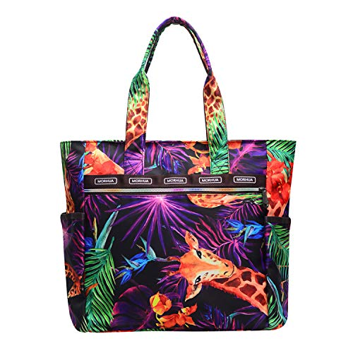 Handbag Shoulder Bags Tote Bag Waterproof Large Lightweight Travel Totes Gym Totes for Gym Hiking Picnic Travel Beach (Giraffe - Bags Tote Giraffe