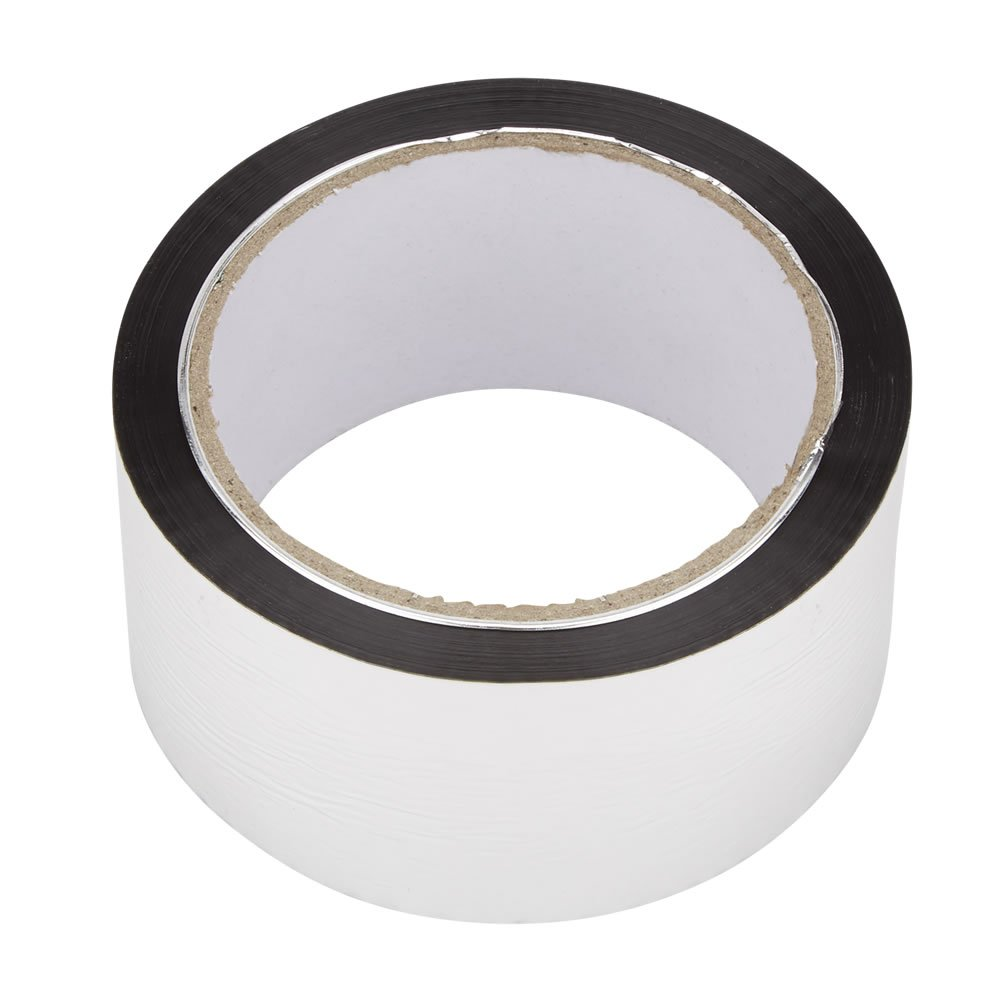 Biard Aluminium Self Adhesive Silver Foil Duct Tape - 50mm x 50m for use with Foil Insulation - Loft, Floor, Wall, Motorhome, Boat & Shed