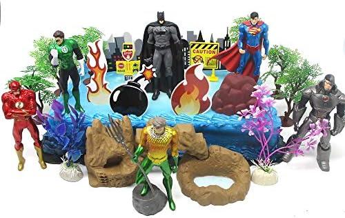 Superb Amazon Com Justice League Super Hero Themed Birthday Cake Topper Funny Birthday Cards Online Kookostrdamsfinfo