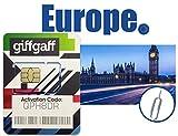 Best International Sim Cards - Giffgaff PrePaid Europe Sim Card for 12 Days-Preloaded Review