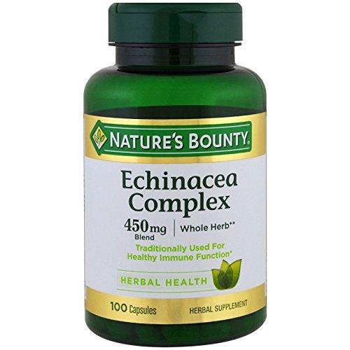 Nature's Bounty Echinacea & Goldenseal Root Plus - 100 Capsules, Pack of 2