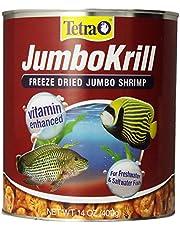 Tetra JumboKrill Freeze-Dried Jumbo Shrimp 14 Ounces, Natural Shrimp Treat For aquarium Fish, red (16200)