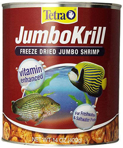 Tetra JumboKrill Freeze-Dried Jumbo Shrimp 14 Ounces, Natural Shrimp Treat For aquarium Fish
