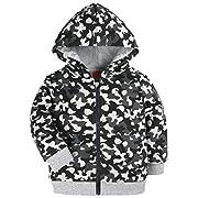 HONGLIN Baby Kids Hoodies Camouflage Jacket for Baby Coats Zip up Style