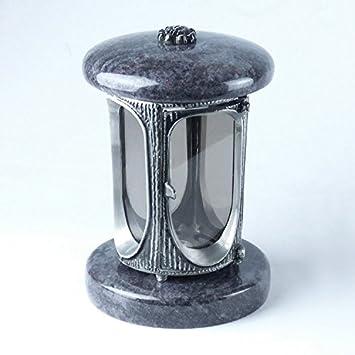 designgrab Tombe Lampe en aluminium Aspect ancien en aluminium et Granit Orion BlueCoromandelBahama Blue dans des lampes aspect ancien funéraire