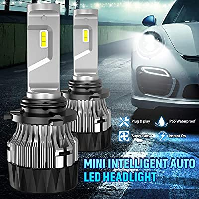 Led Headlight Bulbs Extremely Bright 10000LM CREE Chips Mini Design All-in-One Headlight Conversion Kit 60W 6500K Xenon White-2 Years Waranty KATUR H8 H9 H11 H16 Japan