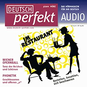 Deutsch perfekt Audio - Im Restaurant. 3/2011 Hörbuch