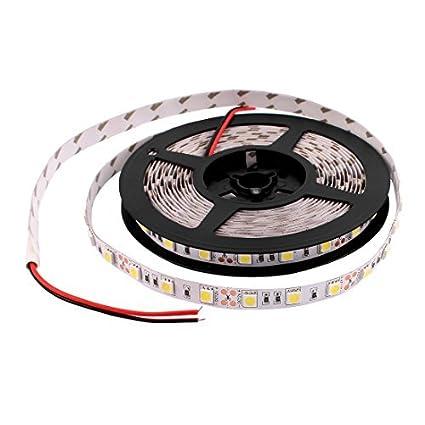 eDealMax 5M 5050 SMD 300 LED flessibile autoadesiva Strip Luci bianche - - Amazon.com