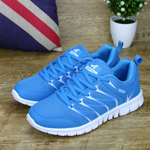 Lake Jogging Shoes Running Sports Gym Men Breathable Breathable Lace Mesh Up Women Unisex Fashion Shoes Casual Shoes Sneakers Blue Trainers PCEwwWUq