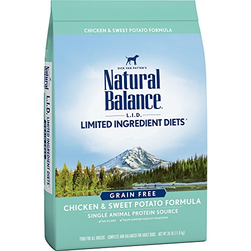 - Natural Balance Limited Ingredient Diets Chicken & Sweet Potato Formula Dry Dog Food, 26 Pounds, Grain Free
