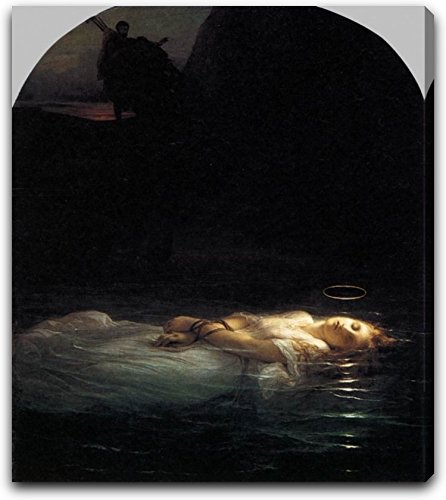 Young Christian Martyr by Paul Delaroche - 15'' x 15'' Extra Thick 2.5'' Gallery Wrapped Canvas Art Print - Ready to Hang by Canvas Art USA
