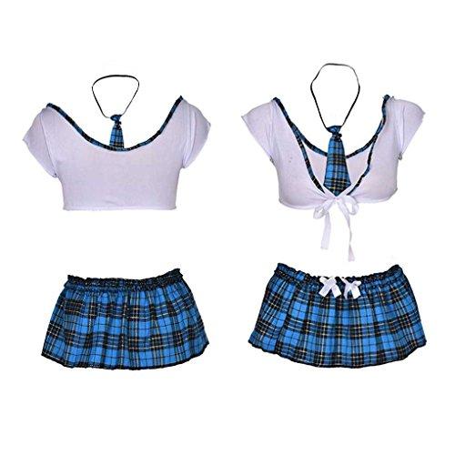 per Mengonee donna intimo costume a Minigonna quadri scozzese in da YqgYwU