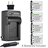 Kastar Battery (4-Pack) and Charger Kit for Polaroid T370 T730 T831 T833 T1032 T1455 T1255 BLi-272 BLi272 and Sanyo Xacti VPC-T700 T700BL T700P T700T VPC-T850 T850BL T850CP VPC-T1060 T1060BK T1060EX