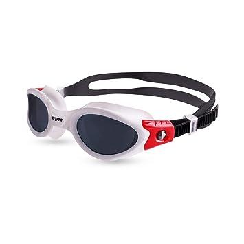 Vorgee Vortech - Gafas de natación polarizadas para Fitness Abiertas, Color Blanco/Negro/