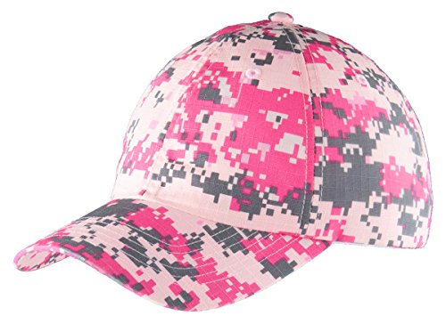 Port Authority Digital Ripstop Camouflage Cap (C925) -PINK CAMO -OSFA