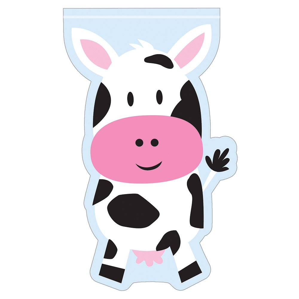 Farm House Animals Birthday Cello Shaped Bags with Zipper (24 Count)
