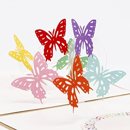 Paper Spiritz 3D Pop Up Greeting Cards Butterfly Birthday Valentine Anniversary Mothers Fathers Day Christmas Sales