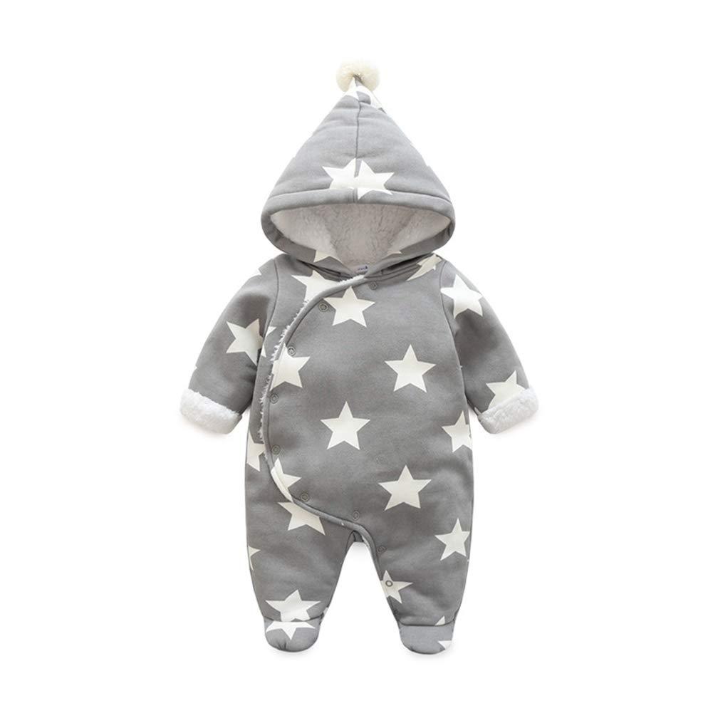 Fairy Baby Newborn Boys Girls Romper Outwear Winter Thick Warm Hood Jumpsuit