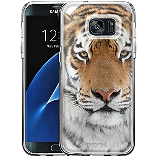 Samsung Galaxy S7 Edge Case, Snap On Cover by Trek Orange Tiger One Piece Trans Case Sales